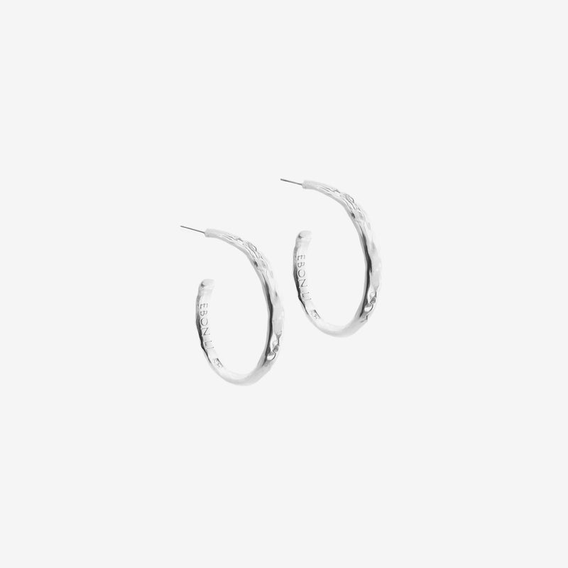 Wave hoop earrings small