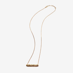 Wave necklace vermeil