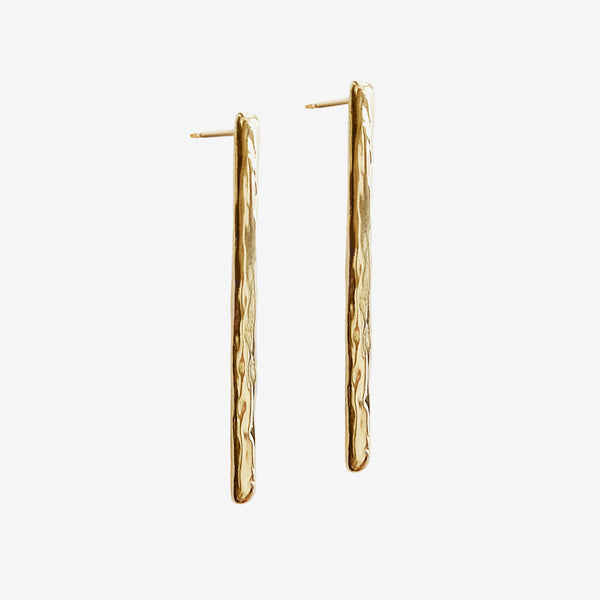 Wave stud earrings vermeil