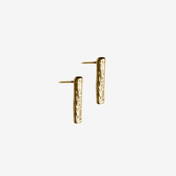 Wave stud earrings small vermeil