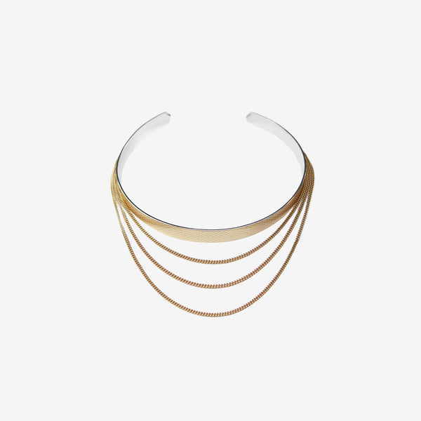 WIRE CHAIN CHOKER GOLD