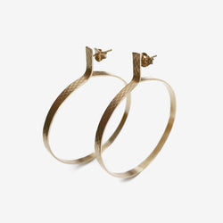 WIRE CIRCLE EARRINGS GOLD