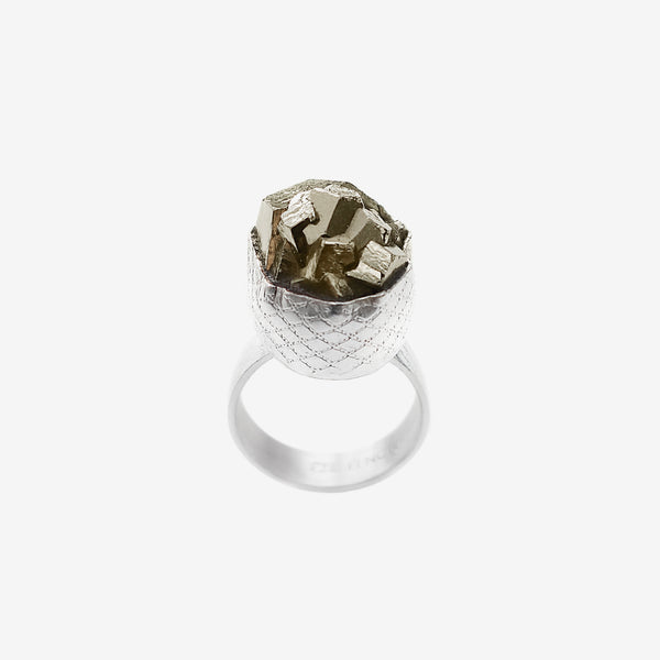 Wire pyrite ring