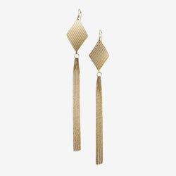 WIRE RHOMB EARRINGS GOLD