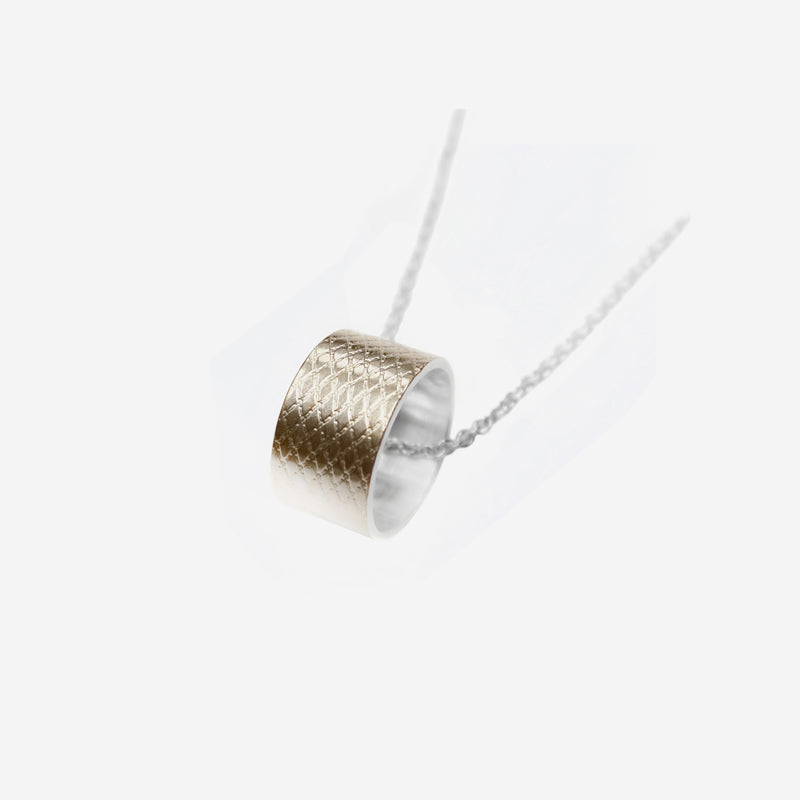 WIRE RING NECKLACE GOLD