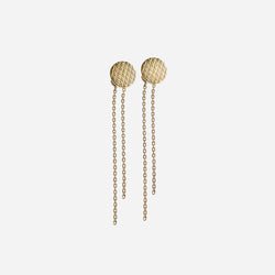 Wire round earrings gold plated