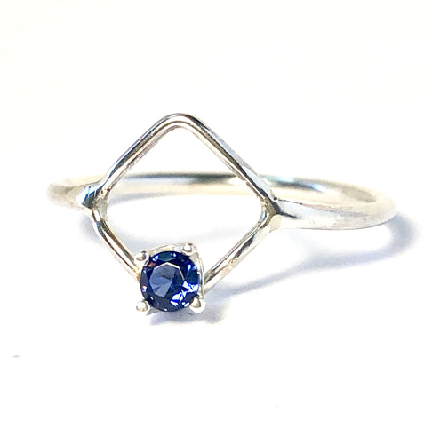Petite Diamond Shaped Ring