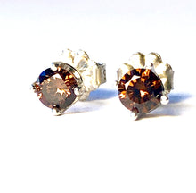 Load image into Gallery viewer, Chocolate studs Natural Brown Smoky Quartz