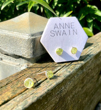 Load image into Gallery viewer, Peridot cluster stud earrings: August birthstone Jewelry