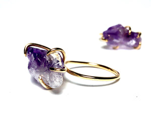 Amethyst Birthstone Ring vertical