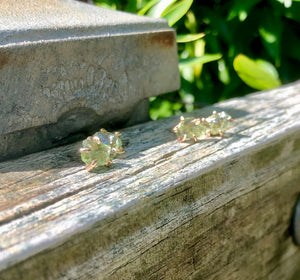 Peridot studs: August birthstone earrings