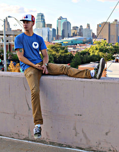 Spread Love Classic True Fit Tee (Vintage Royal)