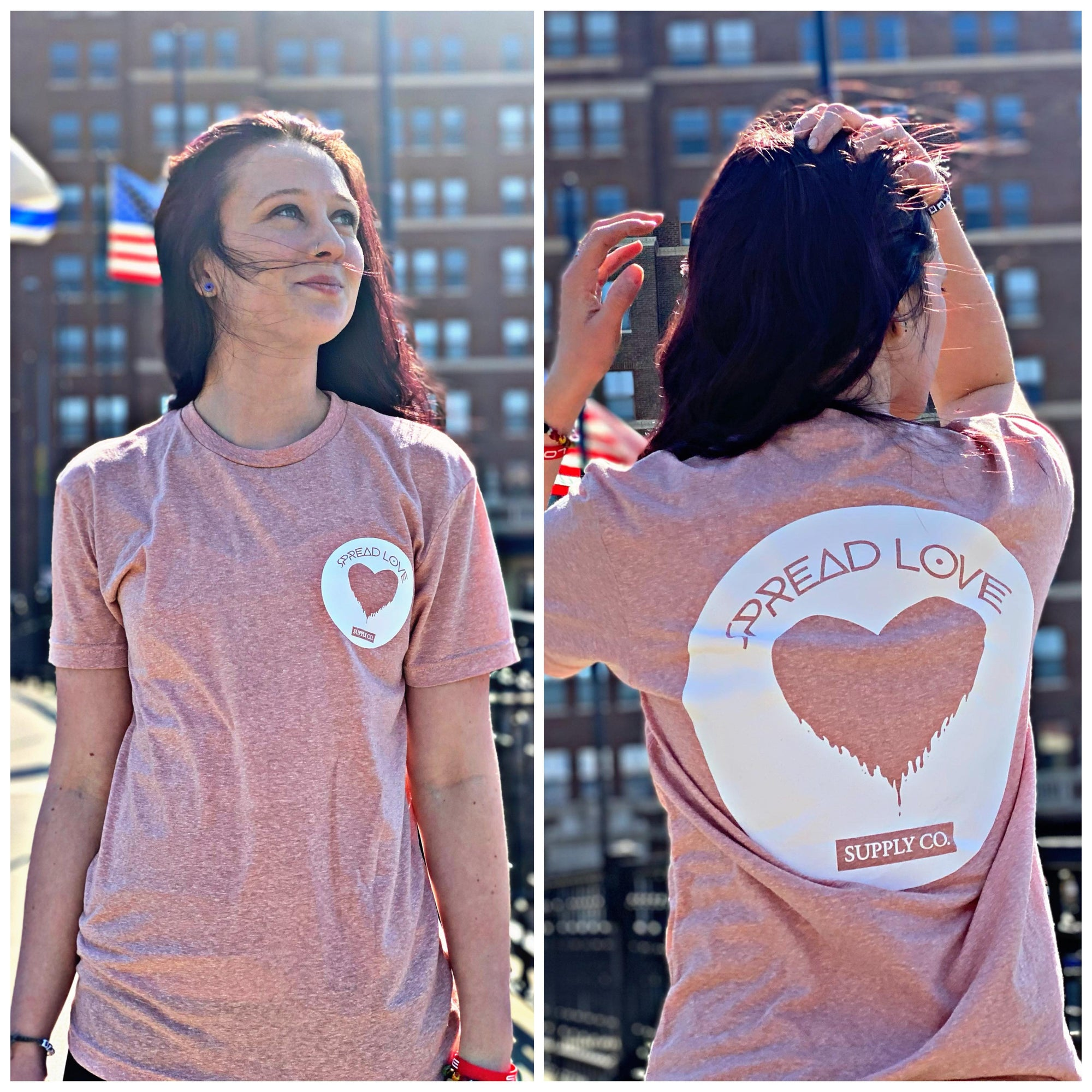 Spread Love Classic True Fit Tee (Desert Pink)