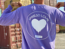Spread Love Long Sleeve Pocket Tee Original (Violet)