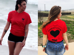Spread Love Classic Graphic Tee (Red)