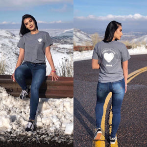 Spread Love Classic Graphic Tee (Heather Gray)