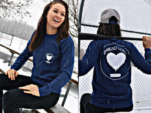 Spread Love Long Sleeve Pocket Tee Original (True Navy)