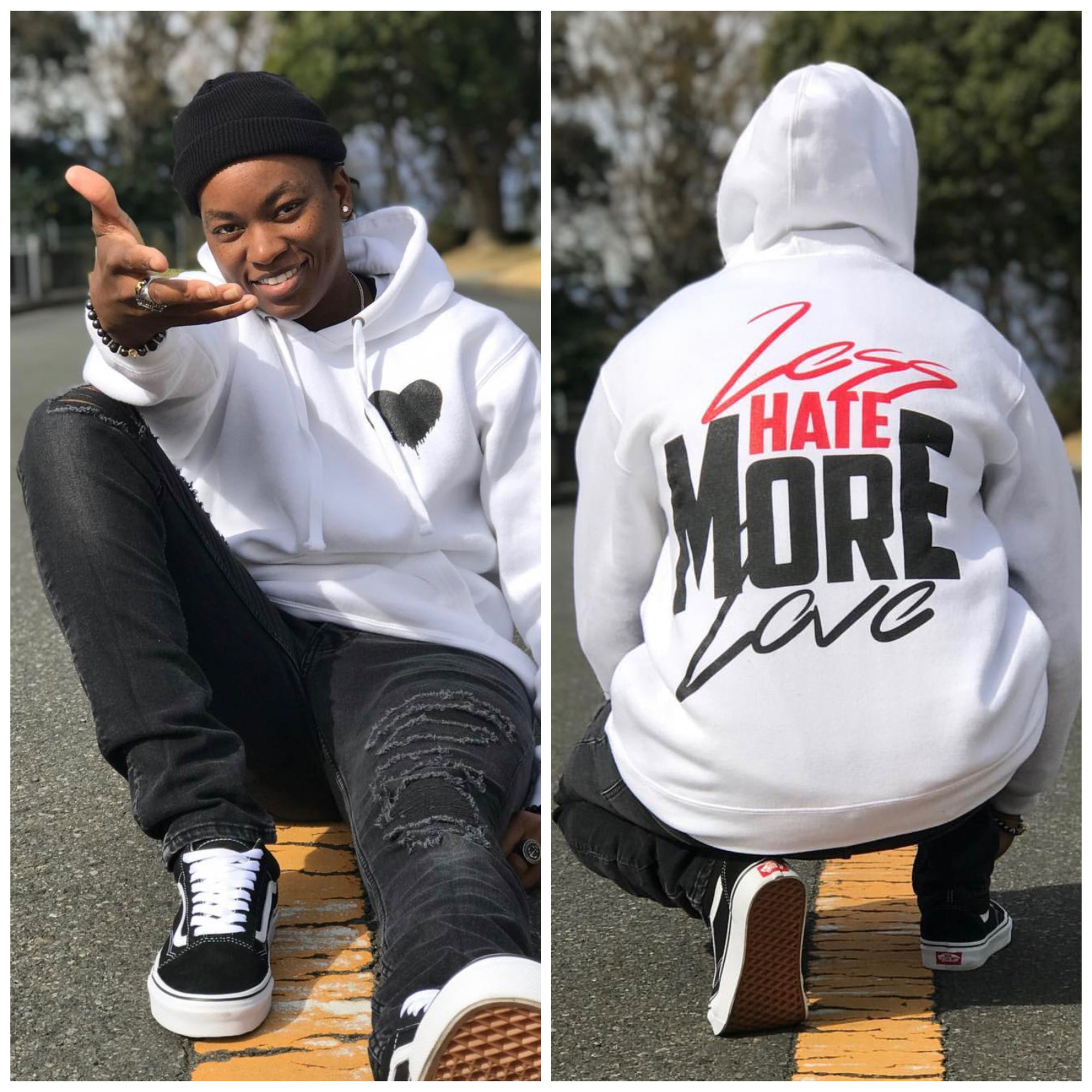 """Less Hate MORE LOVE"" Hoodie"