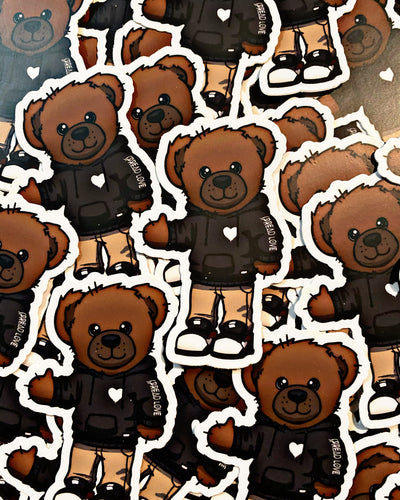 "Spread Love Bear 3"" Die Cut Sticker"