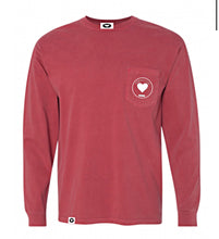 Spread Love Long Sleeve Pocket Tee Original (Crimson)