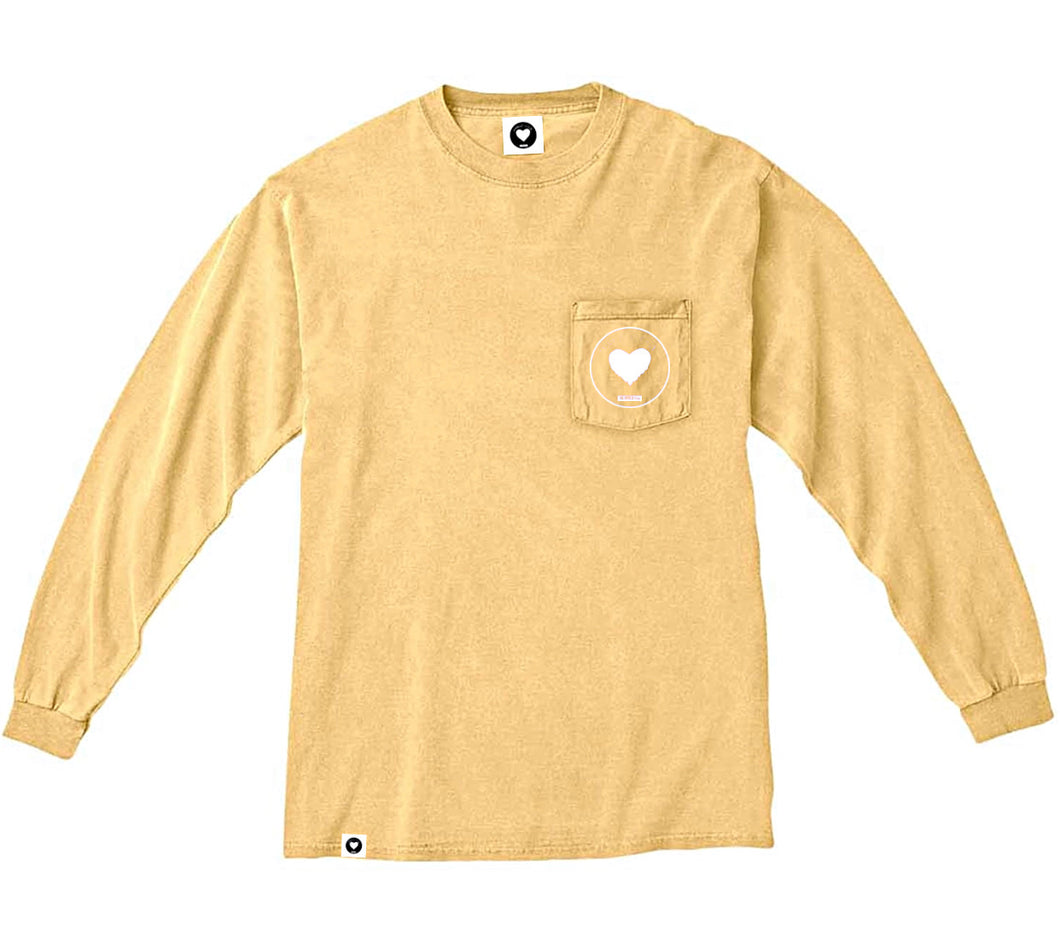 Spread Love Long Sleeve Pocket Tee Original (Butter)