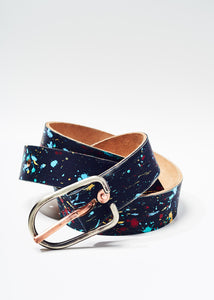 Paint splattered belt