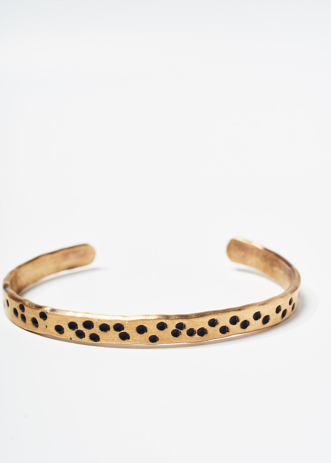 Copy of Brass Cuff With Dots