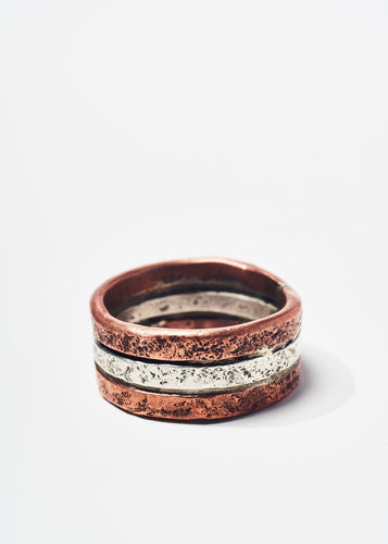 Copper and Sterling Ring