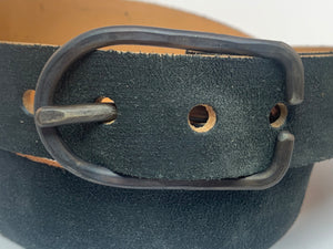 A Vintage Black Suede Belt