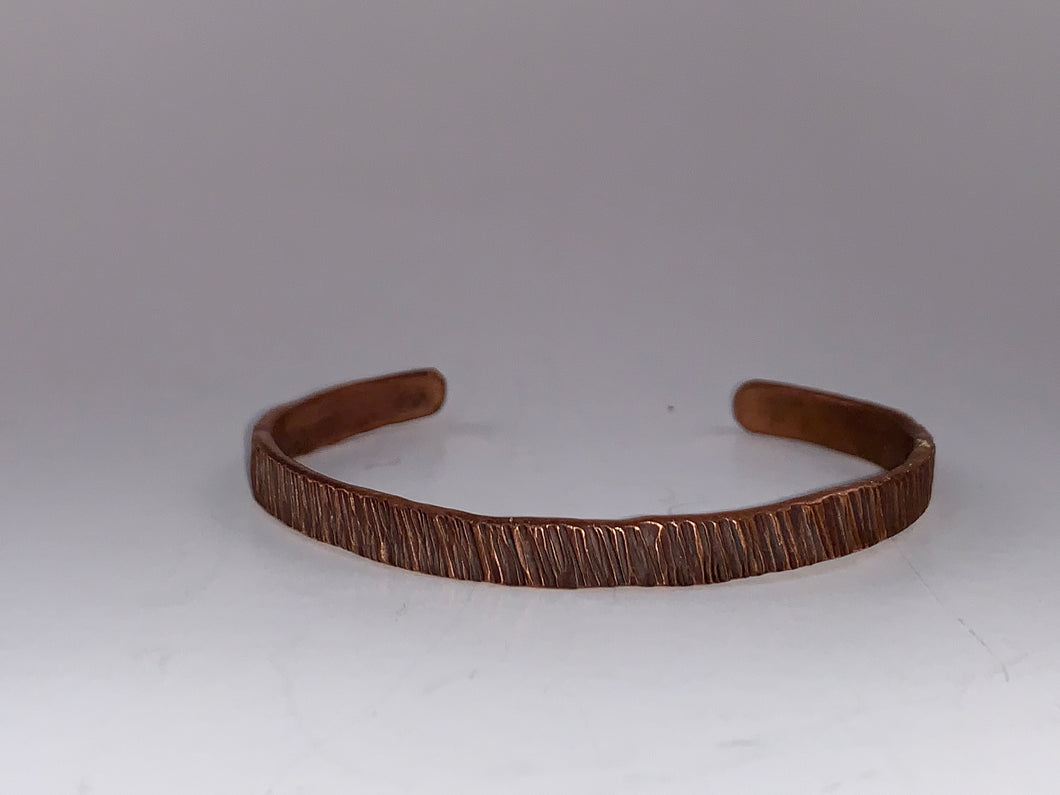 Ruff Cut Copper Cuff
