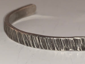 Ruff Cut Sterling Cuff