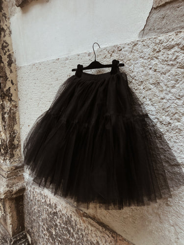 Gonna tulle nera midi