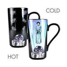 Load image into Gallery viewer, Star Wars Princess Leia & R2-D2 Heat Change Latte Mug