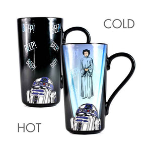 Star Wars Princess Leia & R2-D2 Heat Change Latte Mug