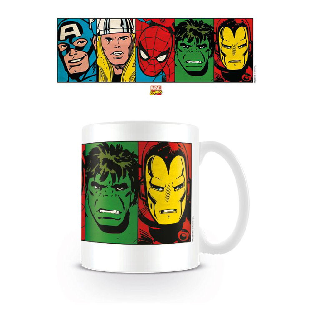 Marvel Retro Faces Mug
