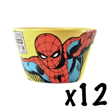 12 x Spider-Man Ceramic Bowls RRP £108