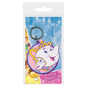 Beauty & The Beast Mrs Potts & Chip PVC Keyring