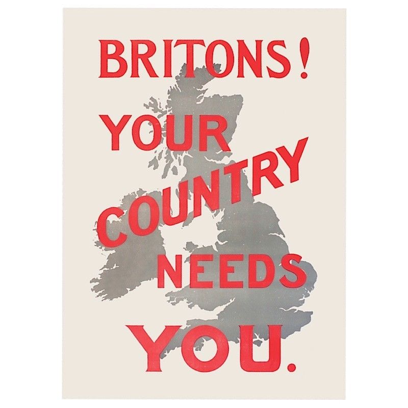 Britons! Your Country Needs You Fridge Magnet