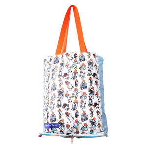 Paddington Bear Repeat Pattern Foldable Shopper Bag