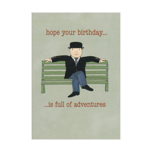 "Mr Benn ""Hope Your Birthday Is Full Of Adventures"" Greeting Card"