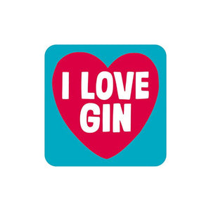 I Love Gin Single Coaster