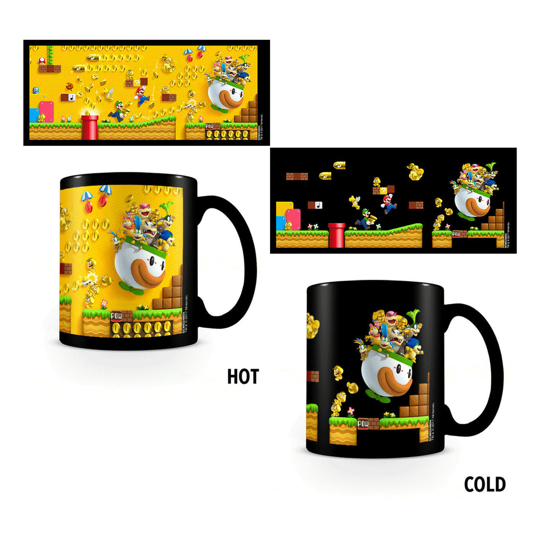Super Mario Bros Gold Coin Rush Heat Change Mug