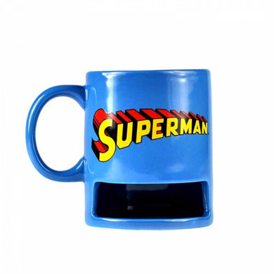 Superman Logo Biscuit Holder Mug