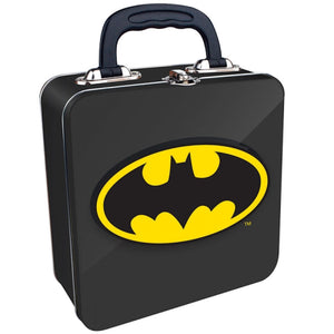 Batman Logo Embossed Square Tin Tote