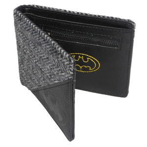 Batman Herringbone Tweed & Faux Leather Wallet
