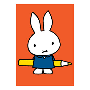 Miffy Holding A Pencil Greeting Card