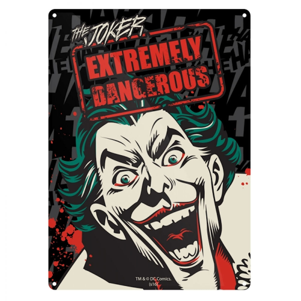 The Joker Extremely Dangerous A5 Steel Sign