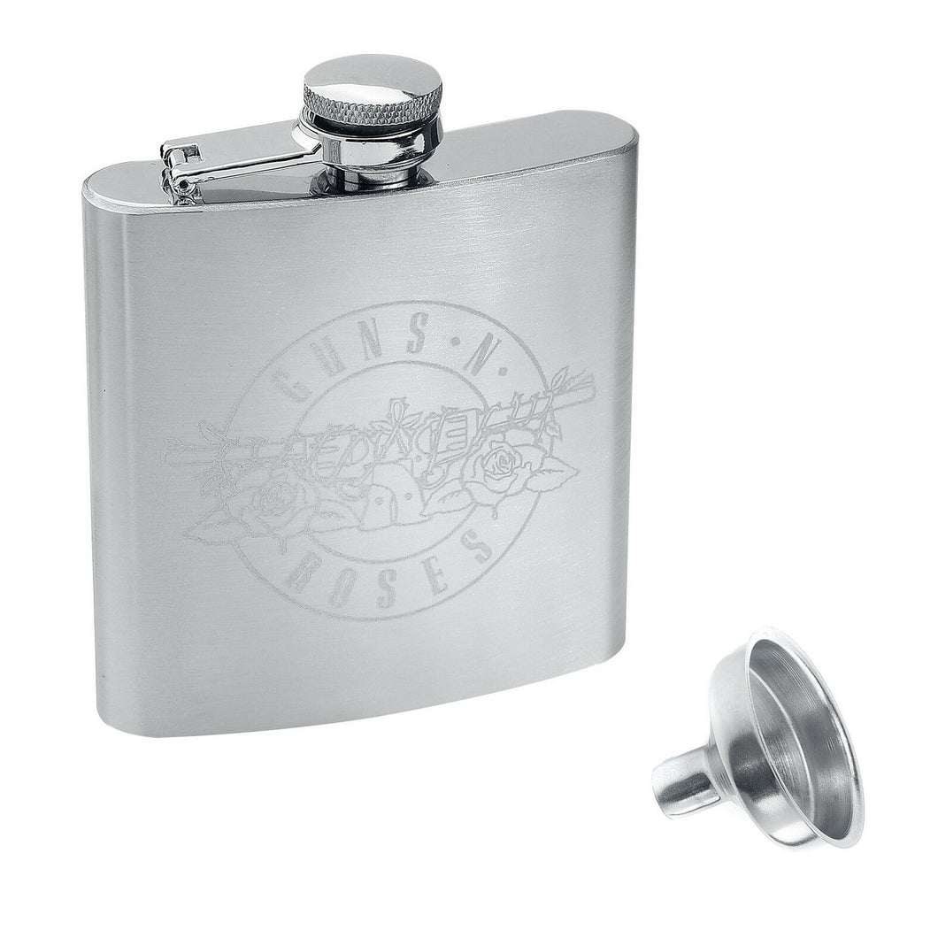 Guns N Roses Logo Hip Flask With Funnel