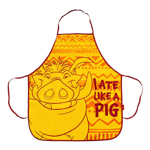 "The Lion King Pumbaa ""I Ate Like A Pig"" Apron"