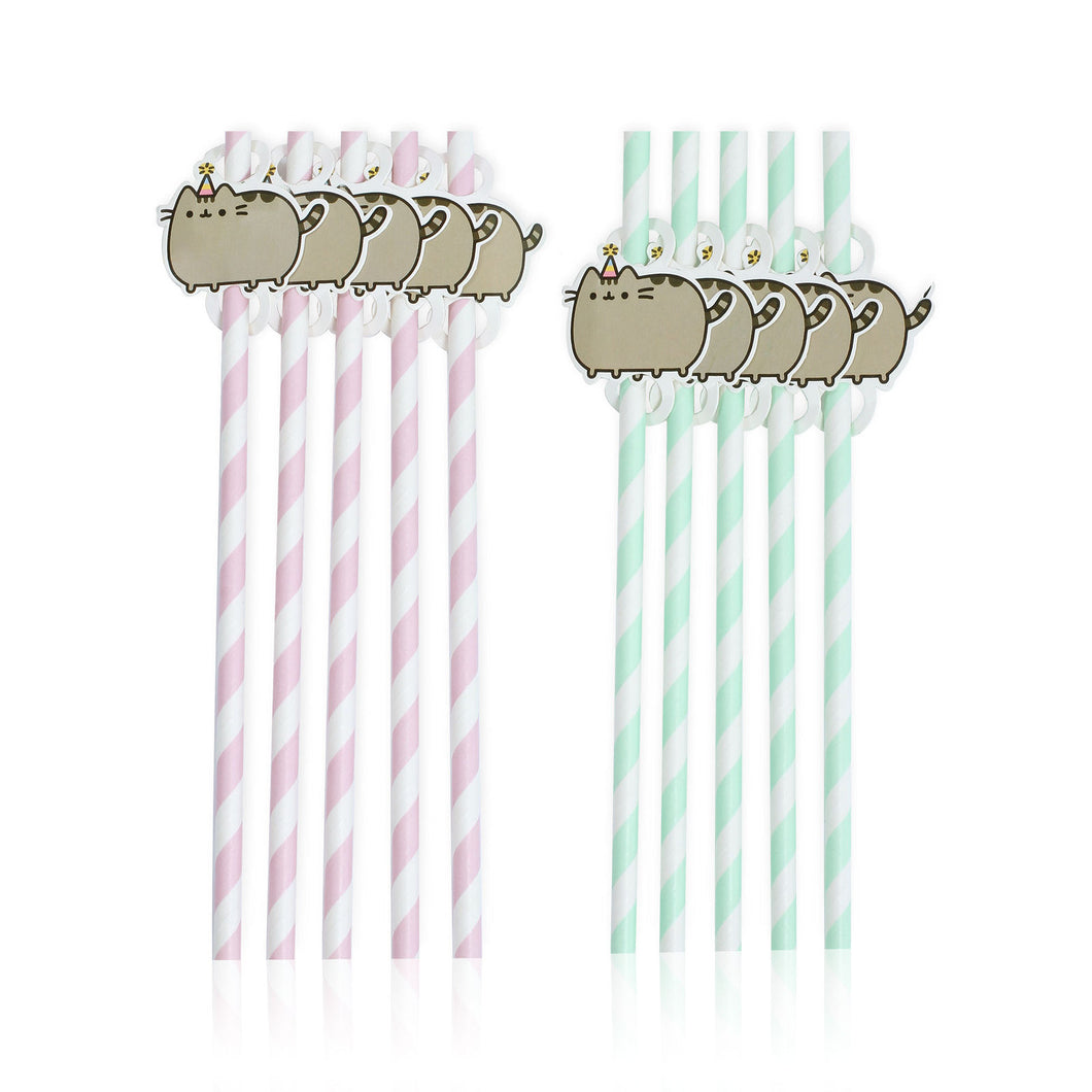 Pack of 10 Pusheen Paper Straws